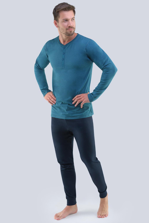 Pijama Gabriel, albastru-negru
