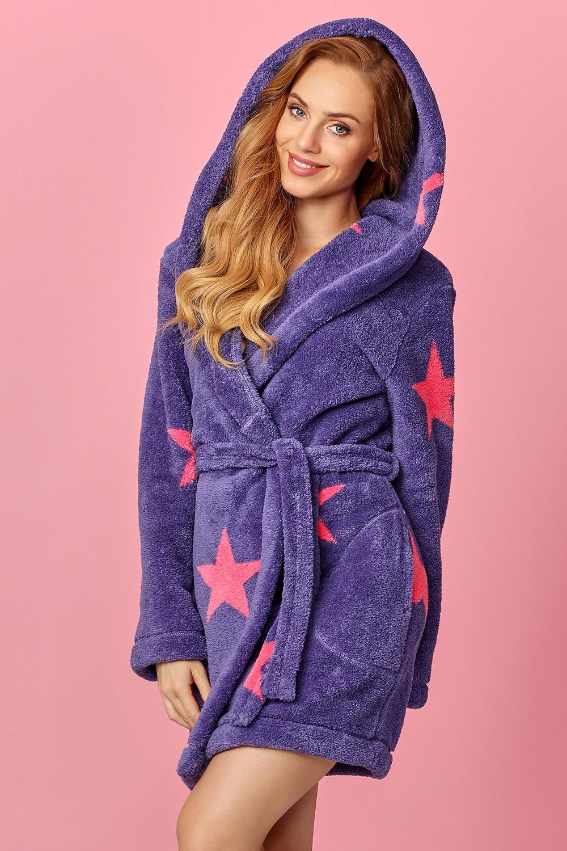 Halat de baie dama Star violet