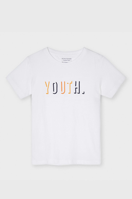 Tricou băieți Mayoral Youth, alb