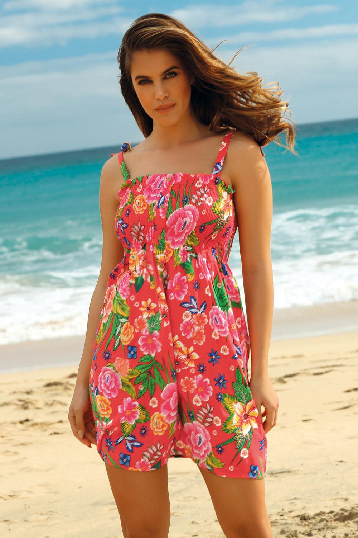 Rochie de plaja Leafy Coral