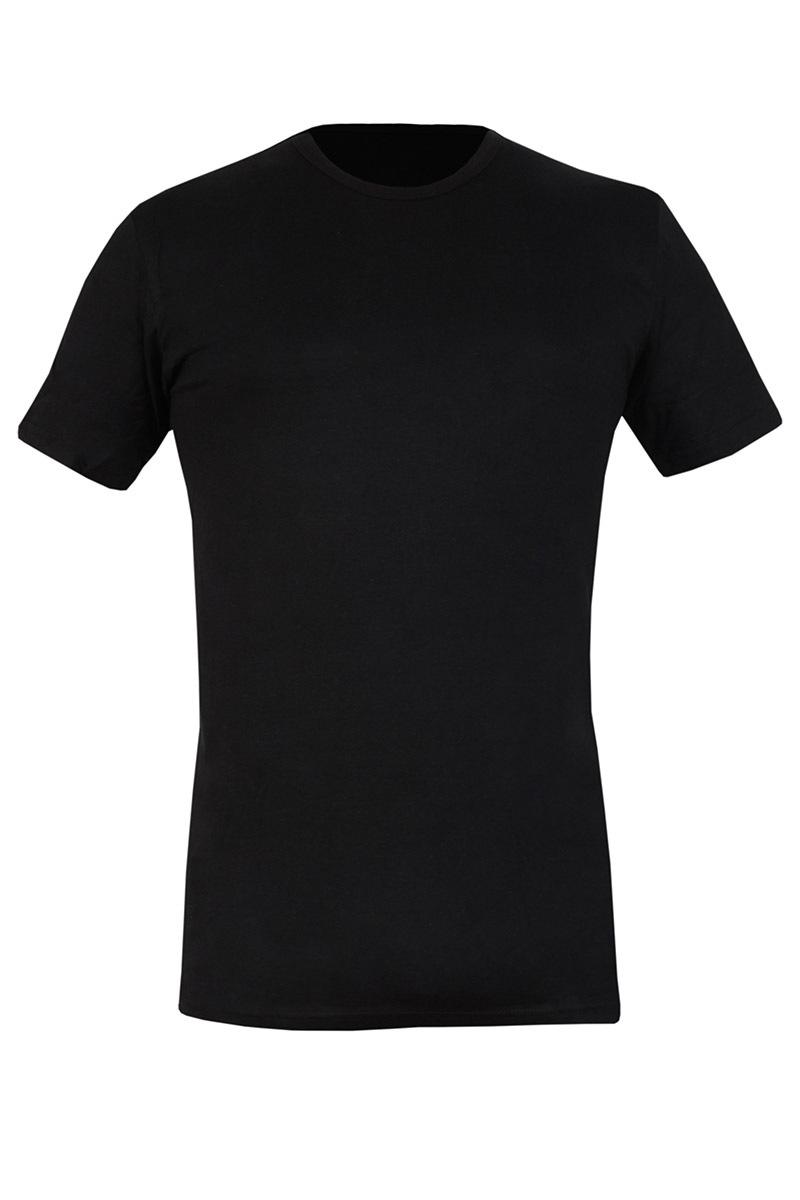 Tricou barbatesc 090 negru, din bumbac