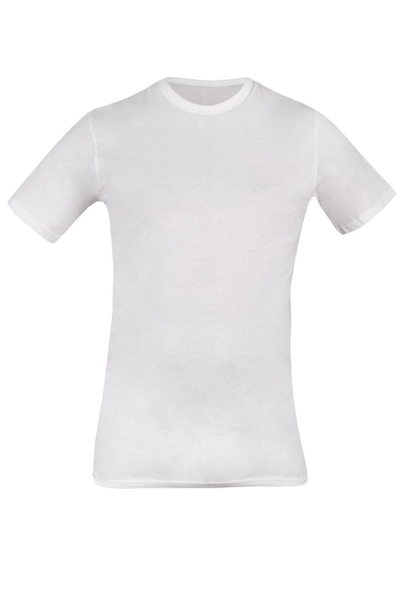 Tricou barbatesc 090 alb, din bumbac