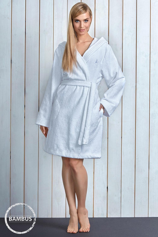 Capot dama Alba White, cu fibre de bambus