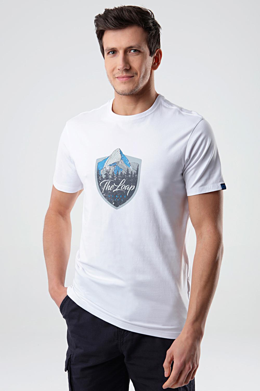 Tricou LOAP Alesh, alb