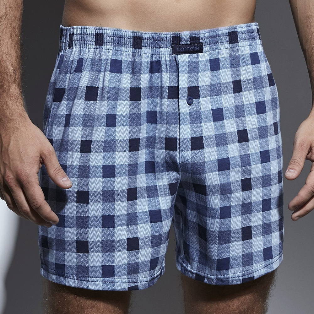 Sort barbatesc CORNETTE Comfort Blue Check