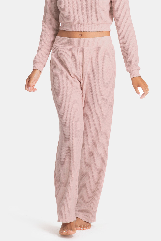 Pantalon Waffle Pink