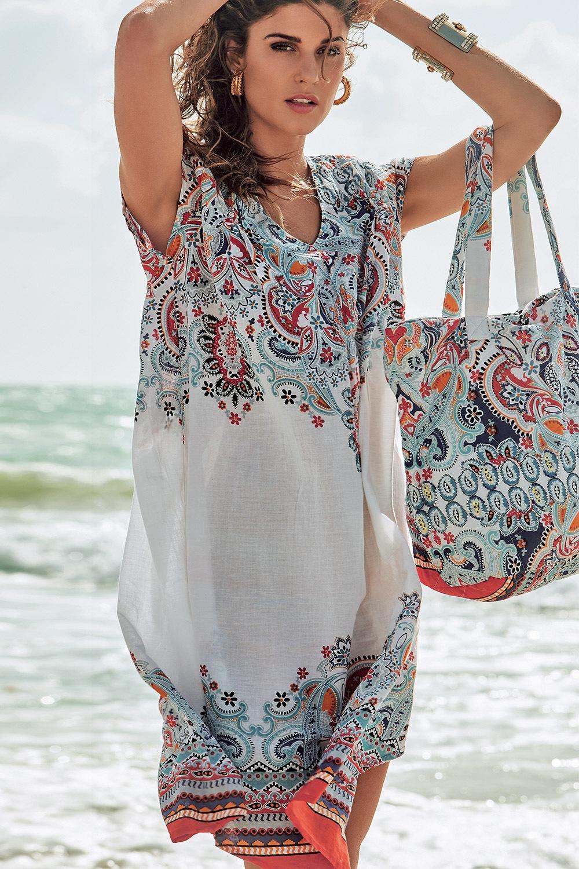 Geanta de plaja de la brand-ul italian David Beachwear colectia Jaipur 36x46cm