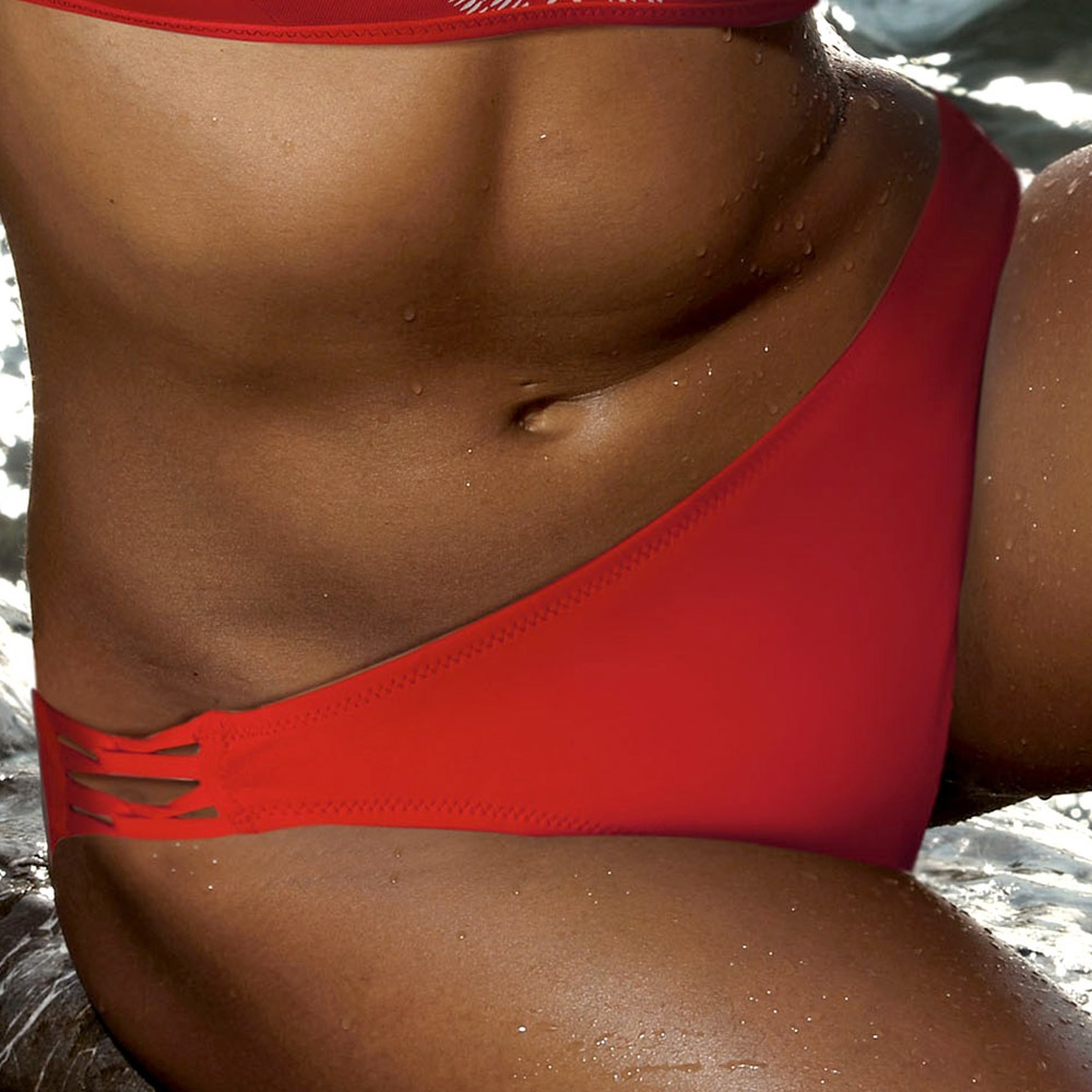 Slip costum de baie Dras Red