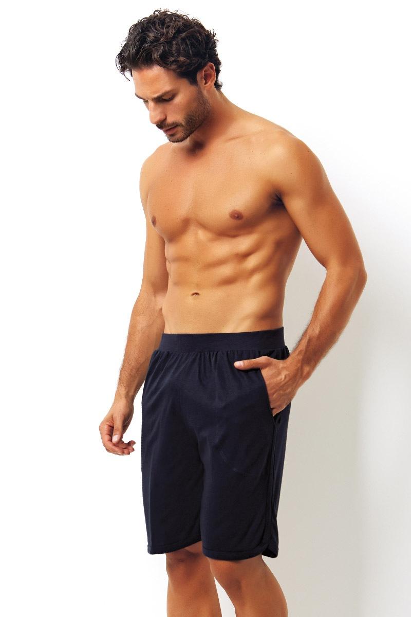 Pantalon scurt albastru, din bumbac