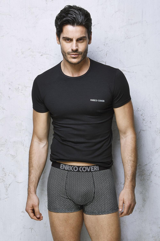 Set barbatesc Enrico Coveri 1650N, tricou si boxeri