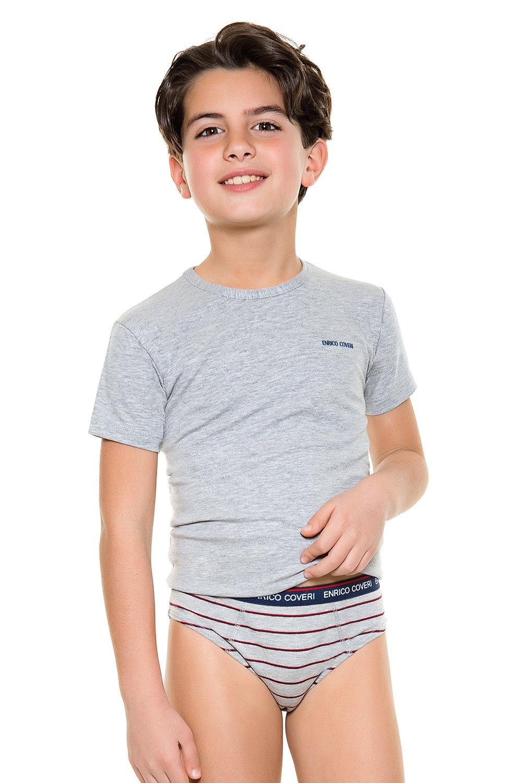 Set baieti, format din chilot si tricou E. Coveri 4086 de la Enrico Coveri