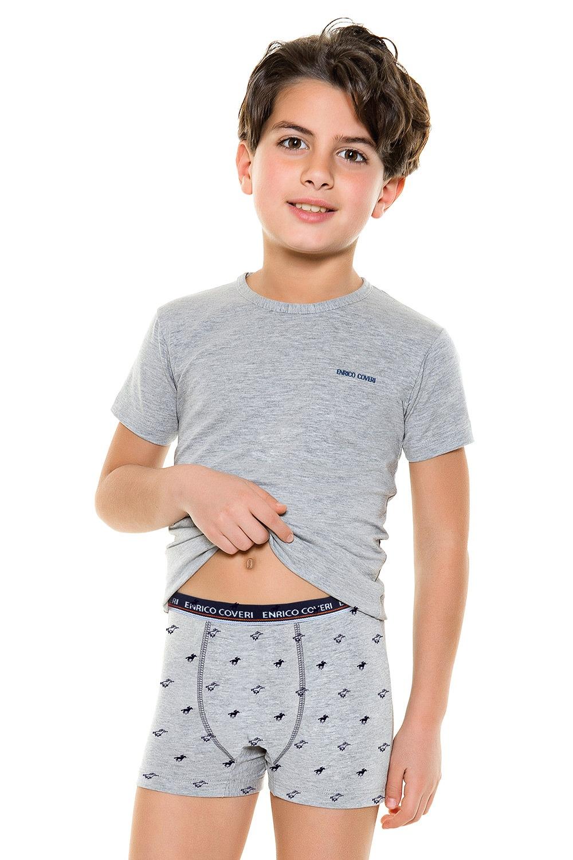 Set baieti , formati din boxeri si tricou E. Coveri 4087 de la Enrico Coveri