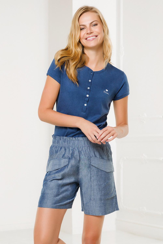 Set haine de casă damă Pantalone, albastru