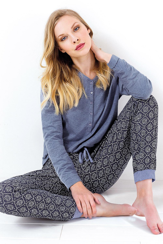 Pijama dama Charlotte, albastru
