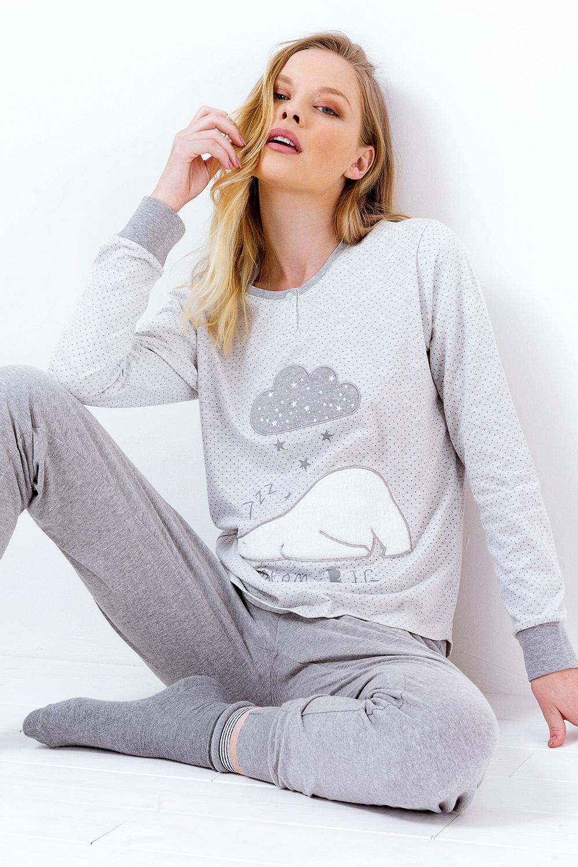 Pijama dama Susianne, gri
