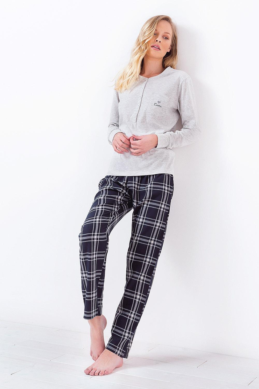 Pijama dama 3034 gri