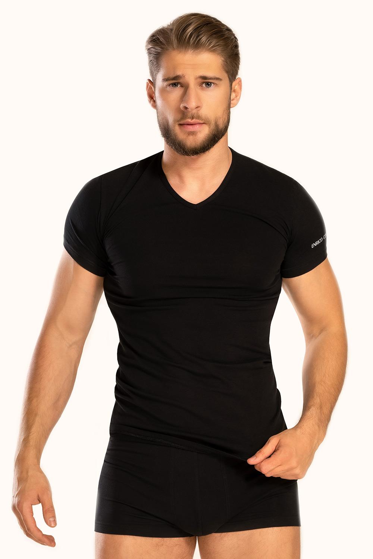 Tricou bărbătesc V neck, negru