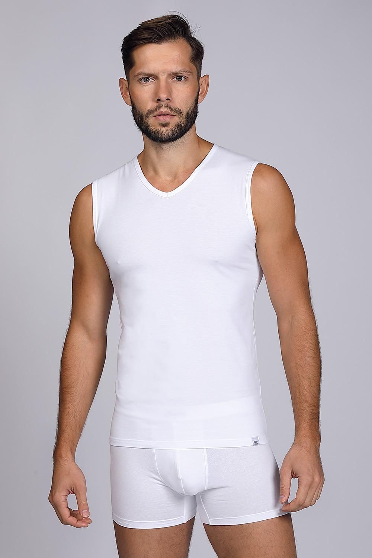Tricou alb, fără mâneci
