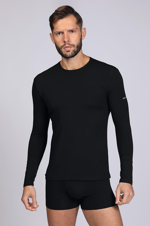 Bluză cu mânecă lungă, neagră