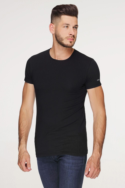 Tricou bărbătesc PLUS SIZE, din bumbac, negru
