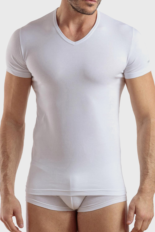 Tricou bărbătesc Max PLUS SIZE, din bumbac, alb