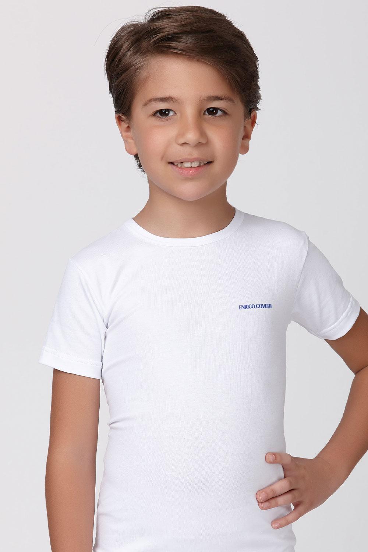 Tricou basic alb, pentru baieti