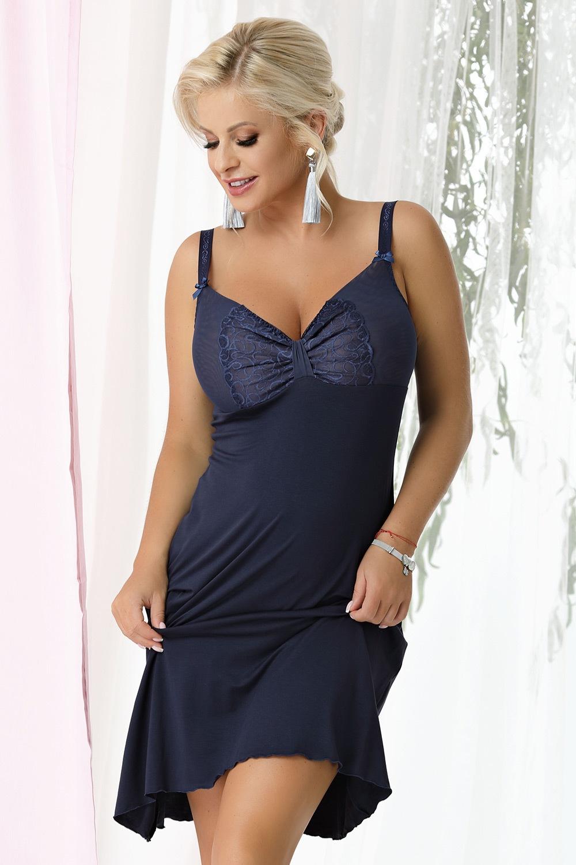 Camasa de noapte Gina Navy blue de la Nessa