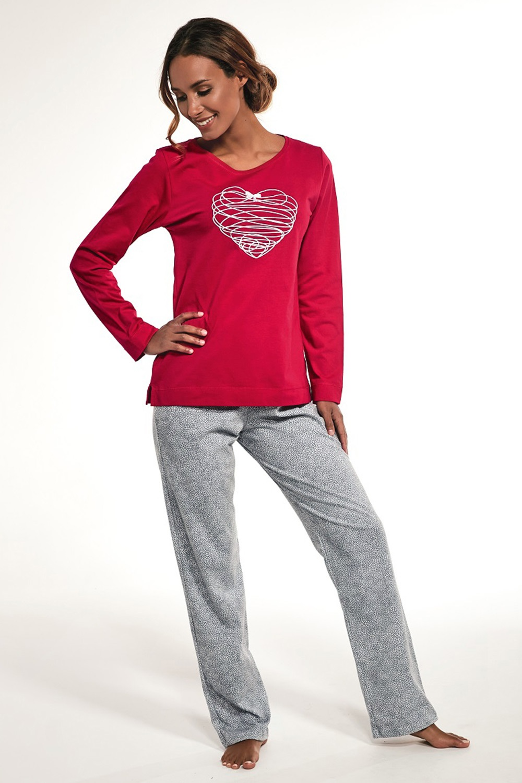 Pijama dama Heart, din bumbac