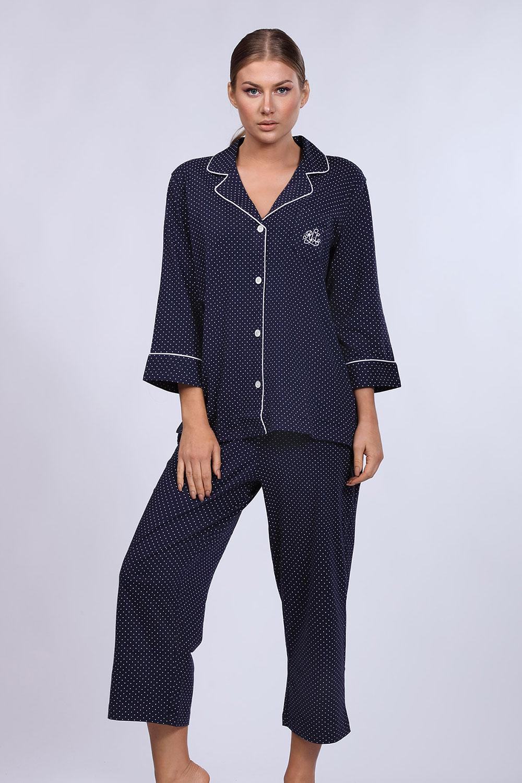 Pijama dama Ralph Lauren Navy Dot