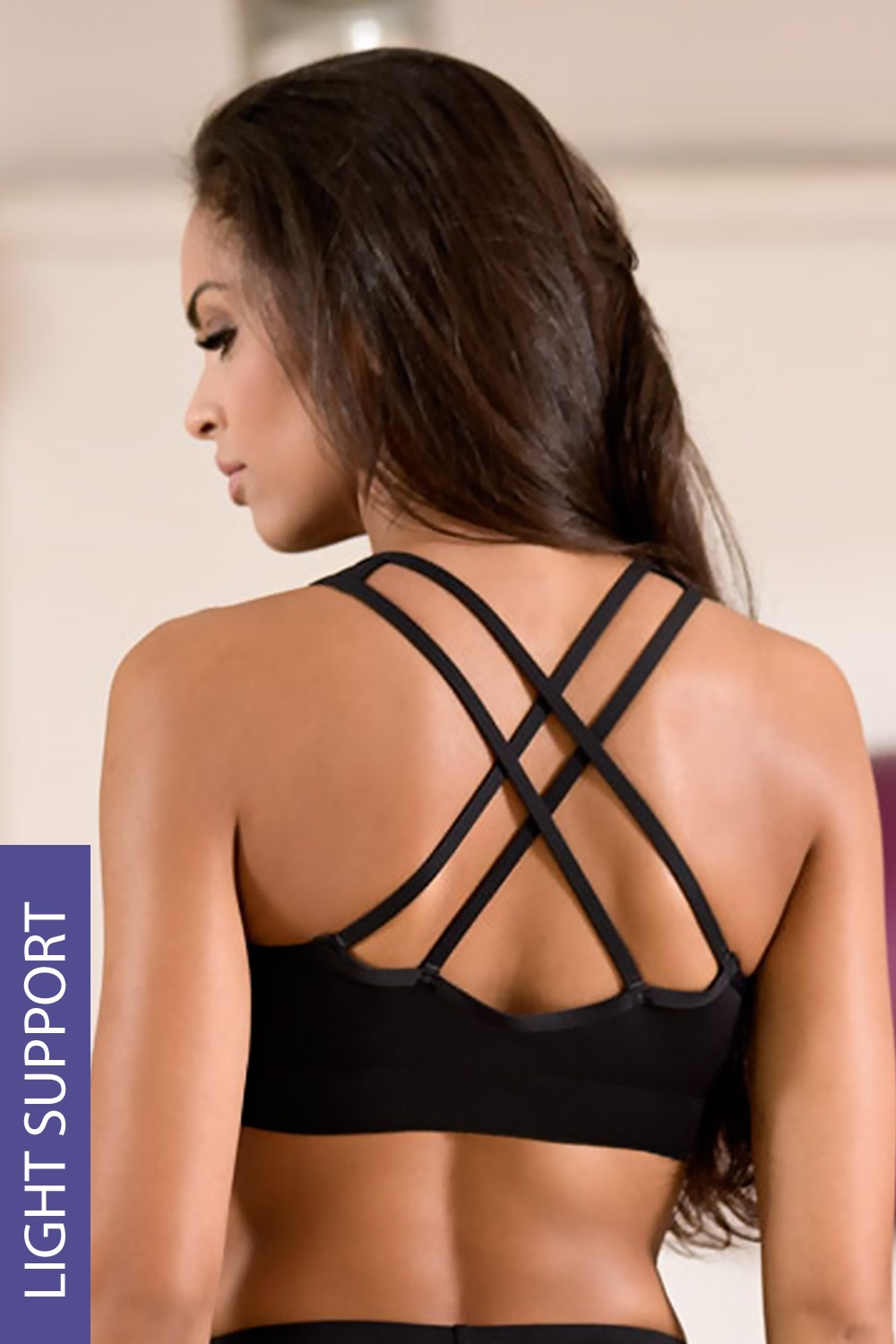 Top sport de dama LORIN Black