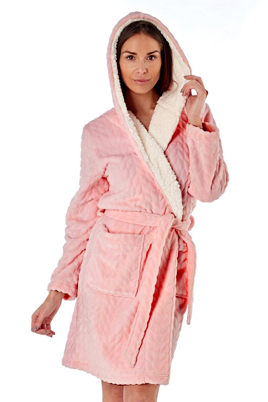 Halat de baie calduros Sofie, roz