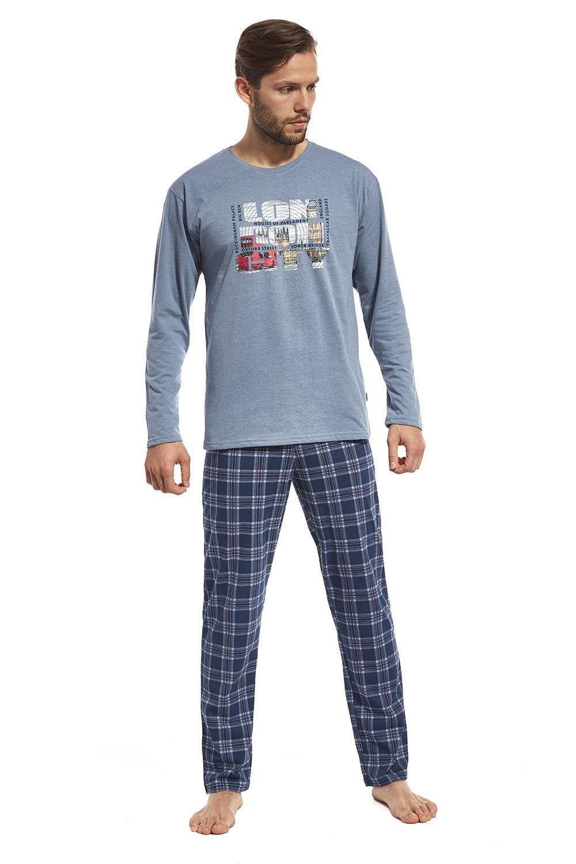 Pijama barbateasca London Street, din bumbac