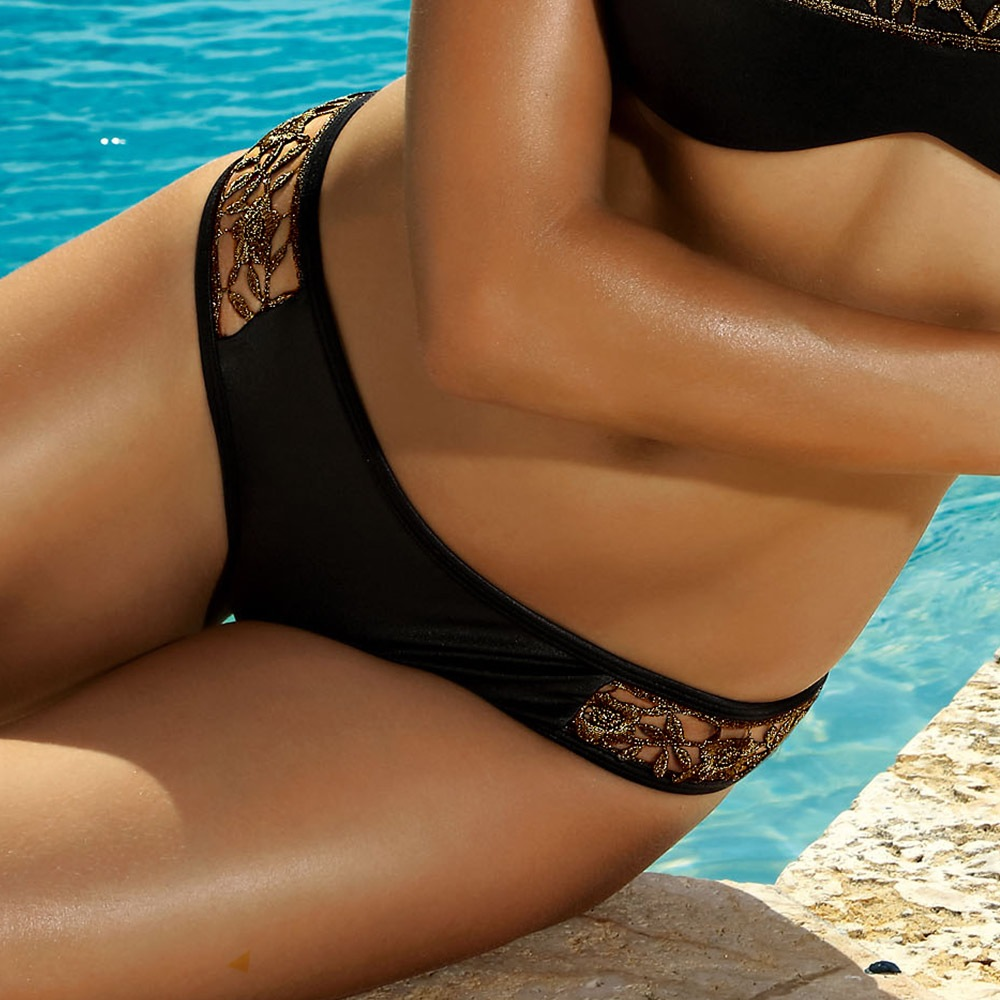 Slip costum de baie Miami Gold