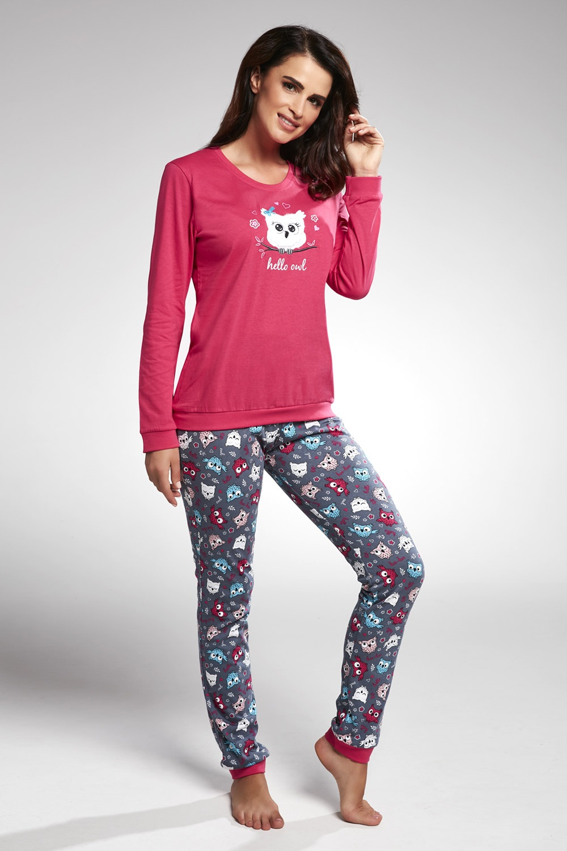 Pijama dama Owl roz