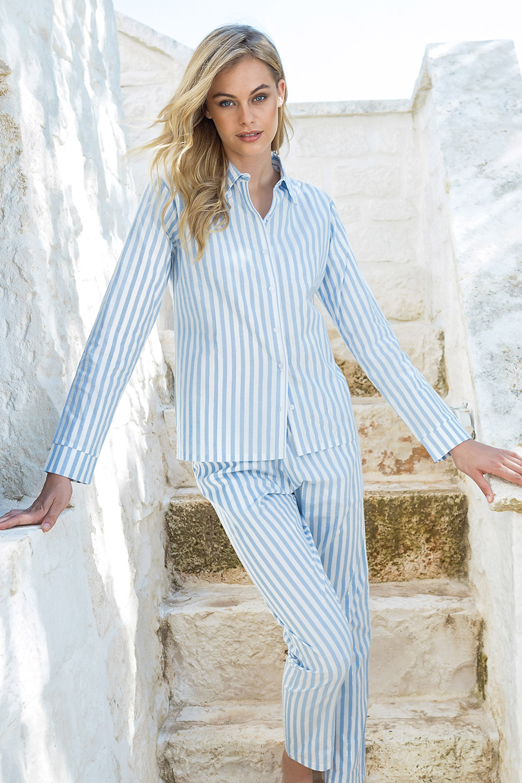 Pijama cu model dungat, maneca lunga