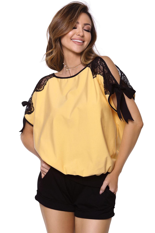 Pijama dama Chiara galben