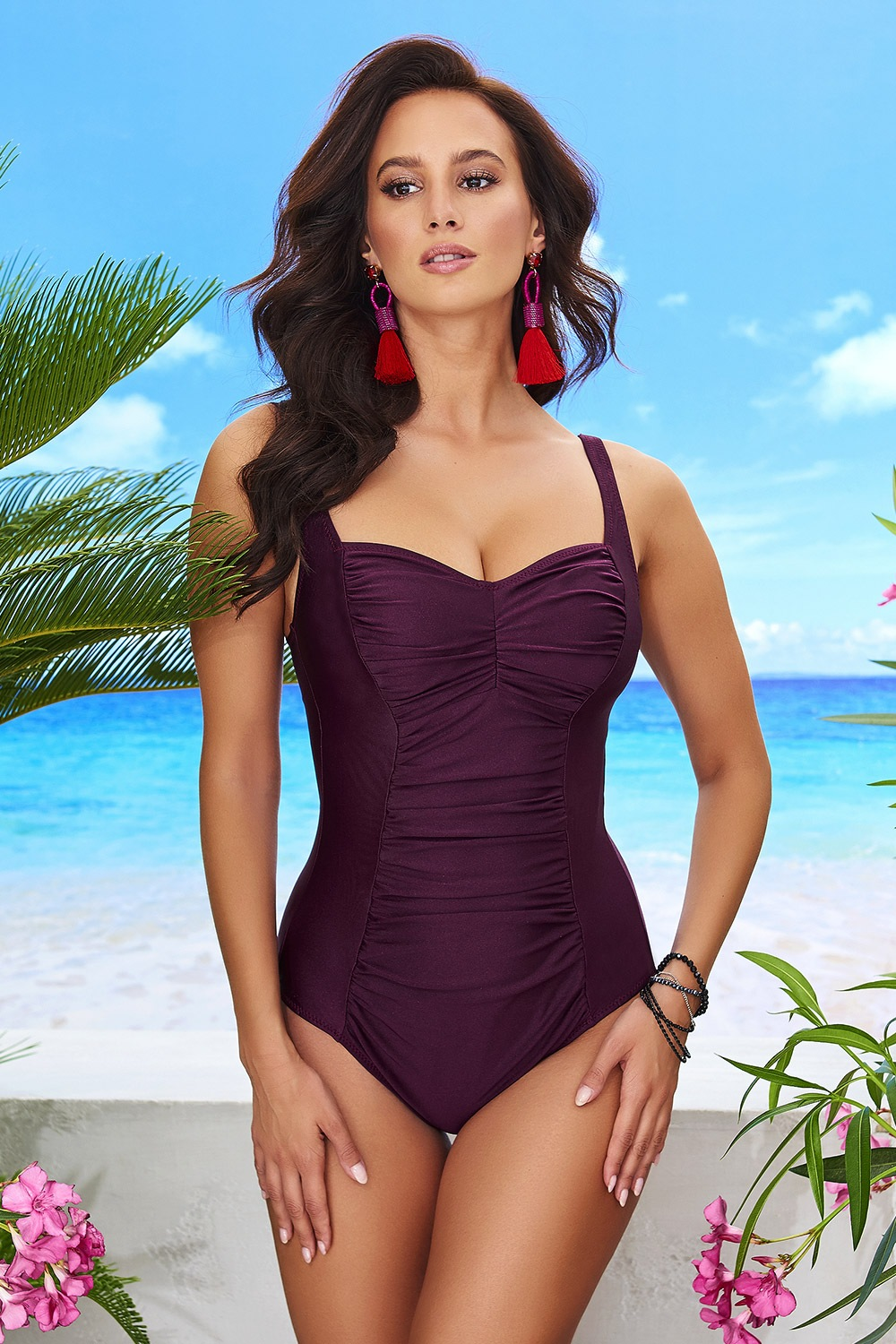 Costum de baie intreg Chloe Grape