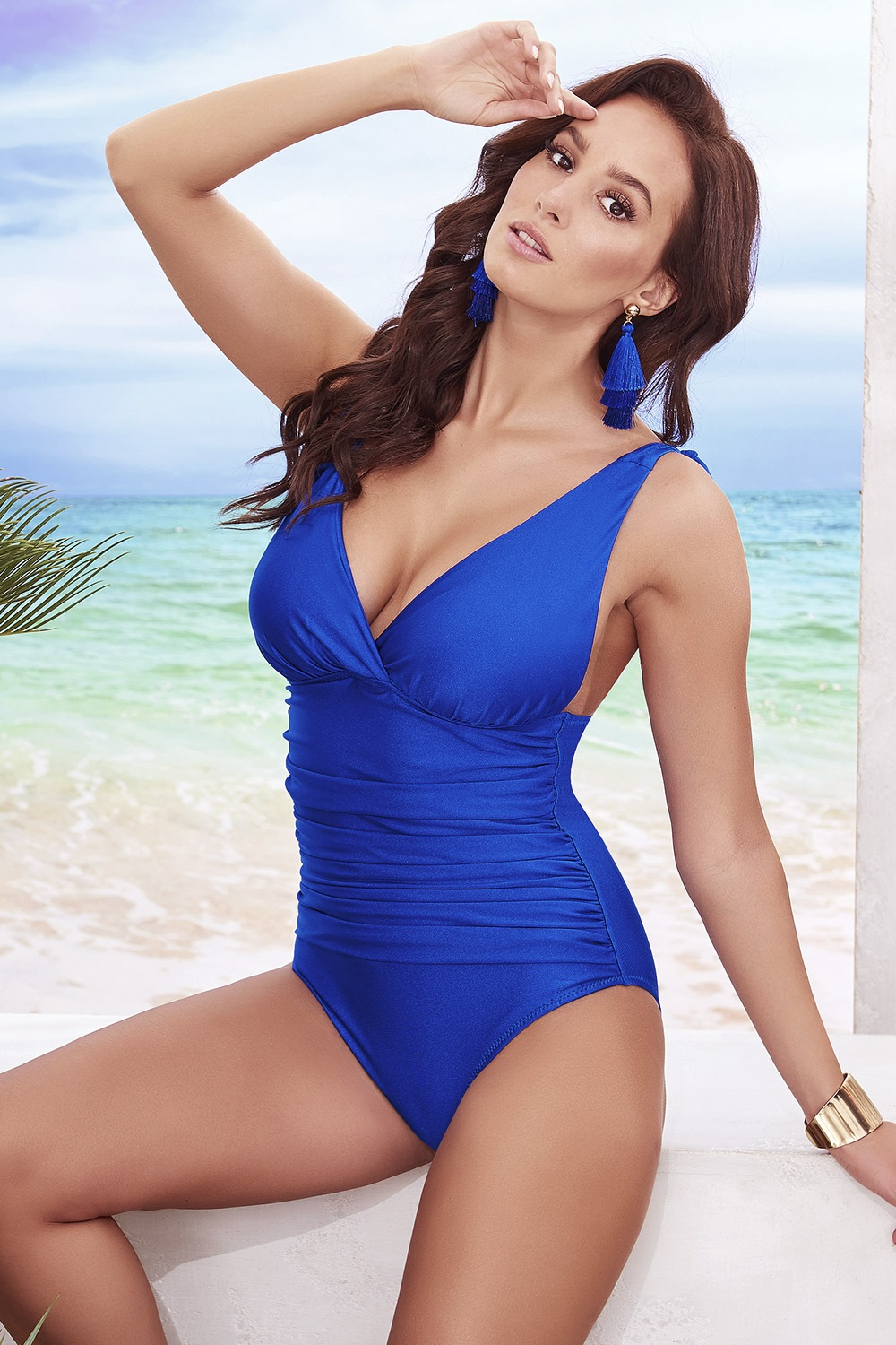 Costum de baie intreg Sofia Blue