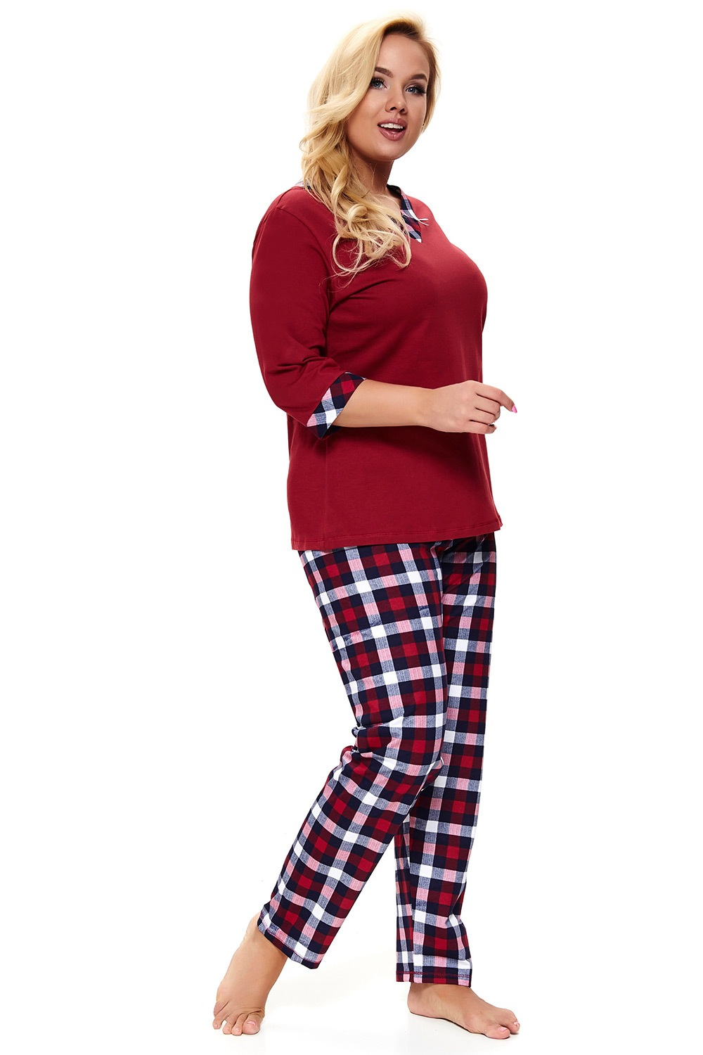 Pijama dama Lady in Red Plus size