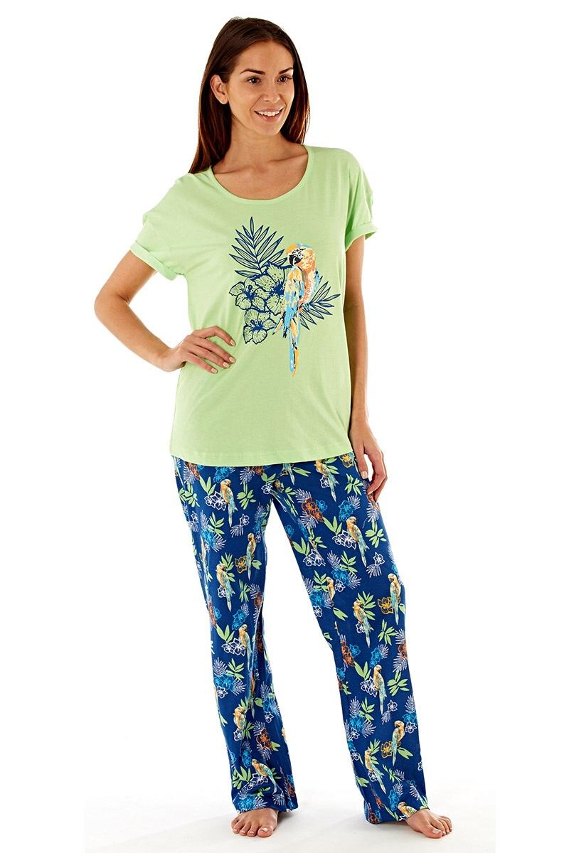 Pijama dama Parrot, din bumbac