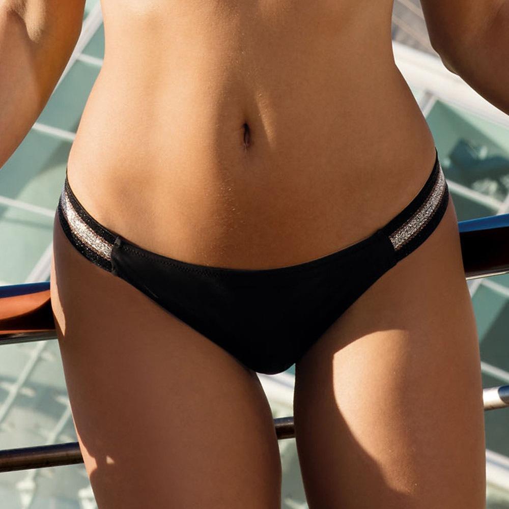 Slip costum de baie Positano, negru
