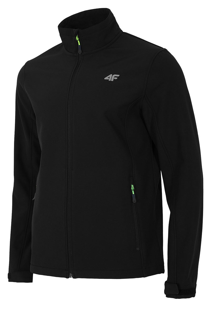 Jacheta softshell barbateasca Black