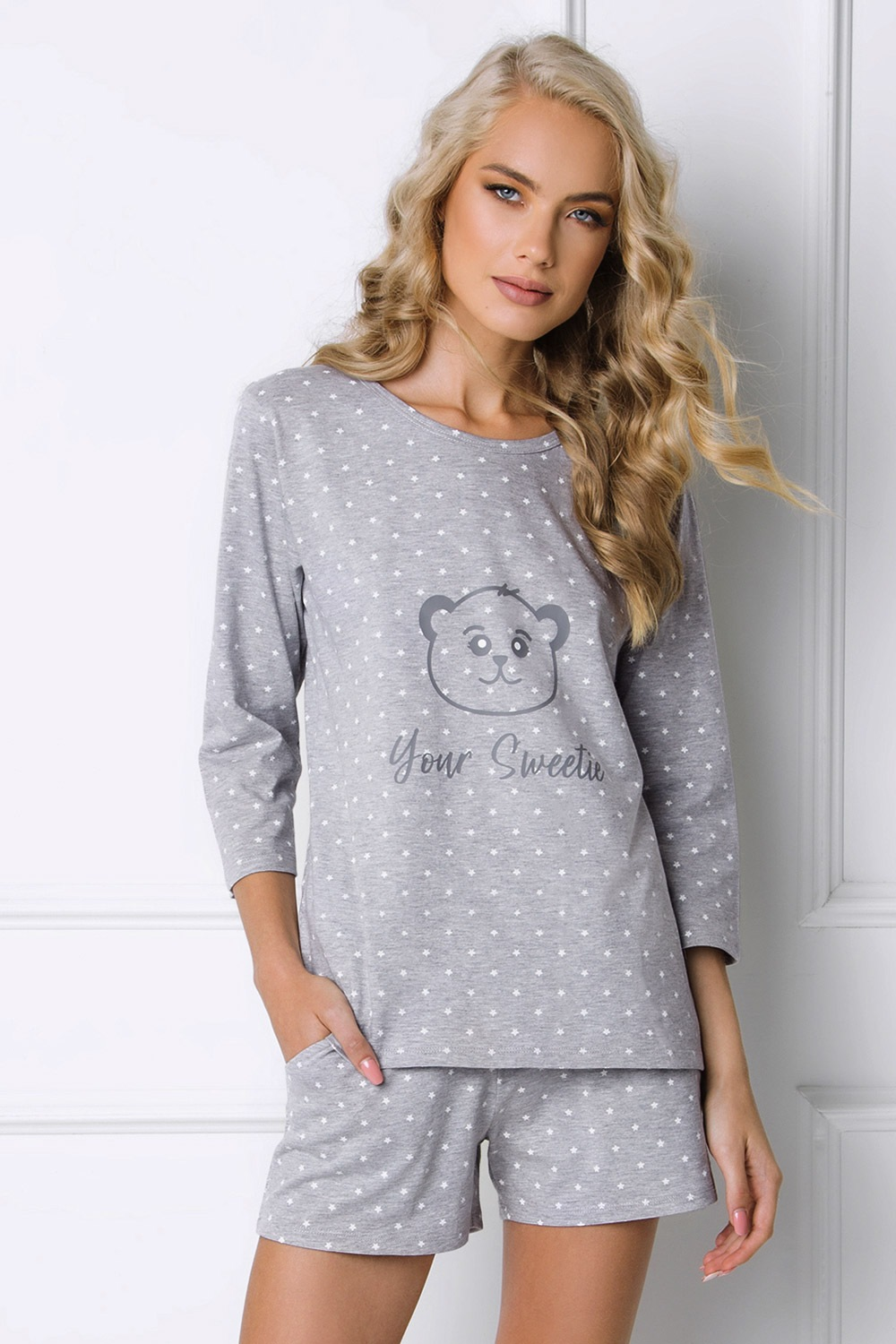 Pijama dama Sweet Bear, scurta