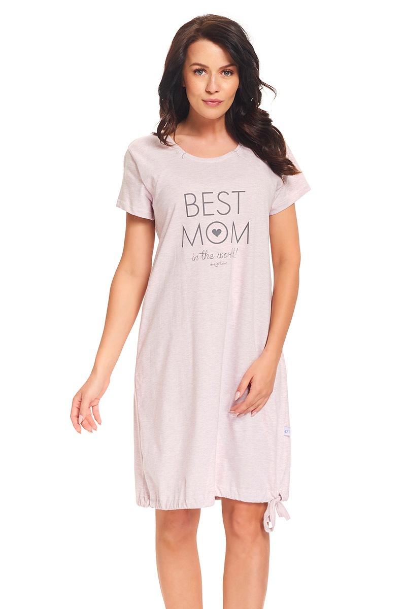 Camasa de noape Best Mom Pink pentru alaptare