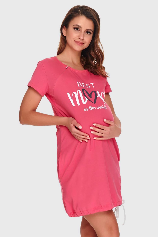 Camasa de noapte Best mom pink, alaptare