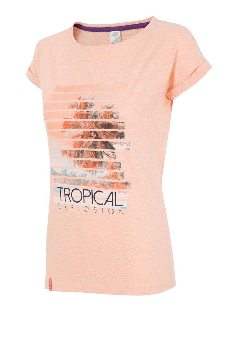 Tricou Sport De Dama 4f Tropical Coral