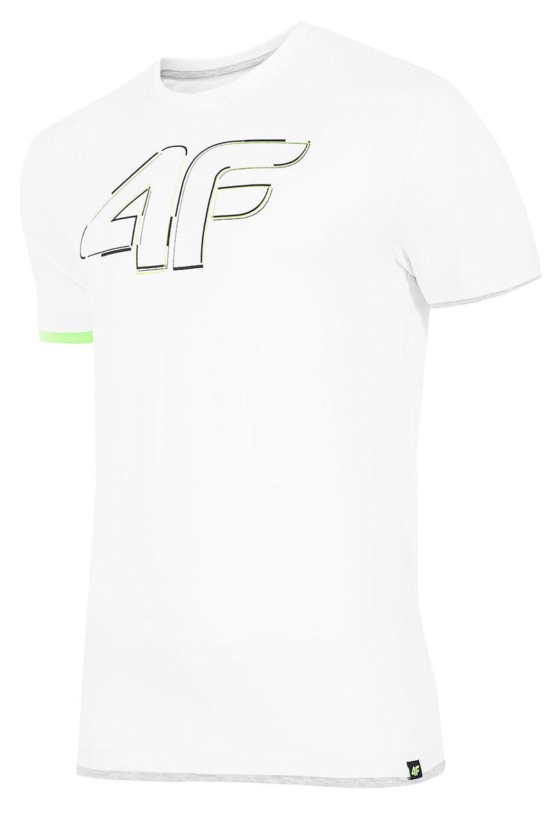 Tricou sport barbatesc 4F White