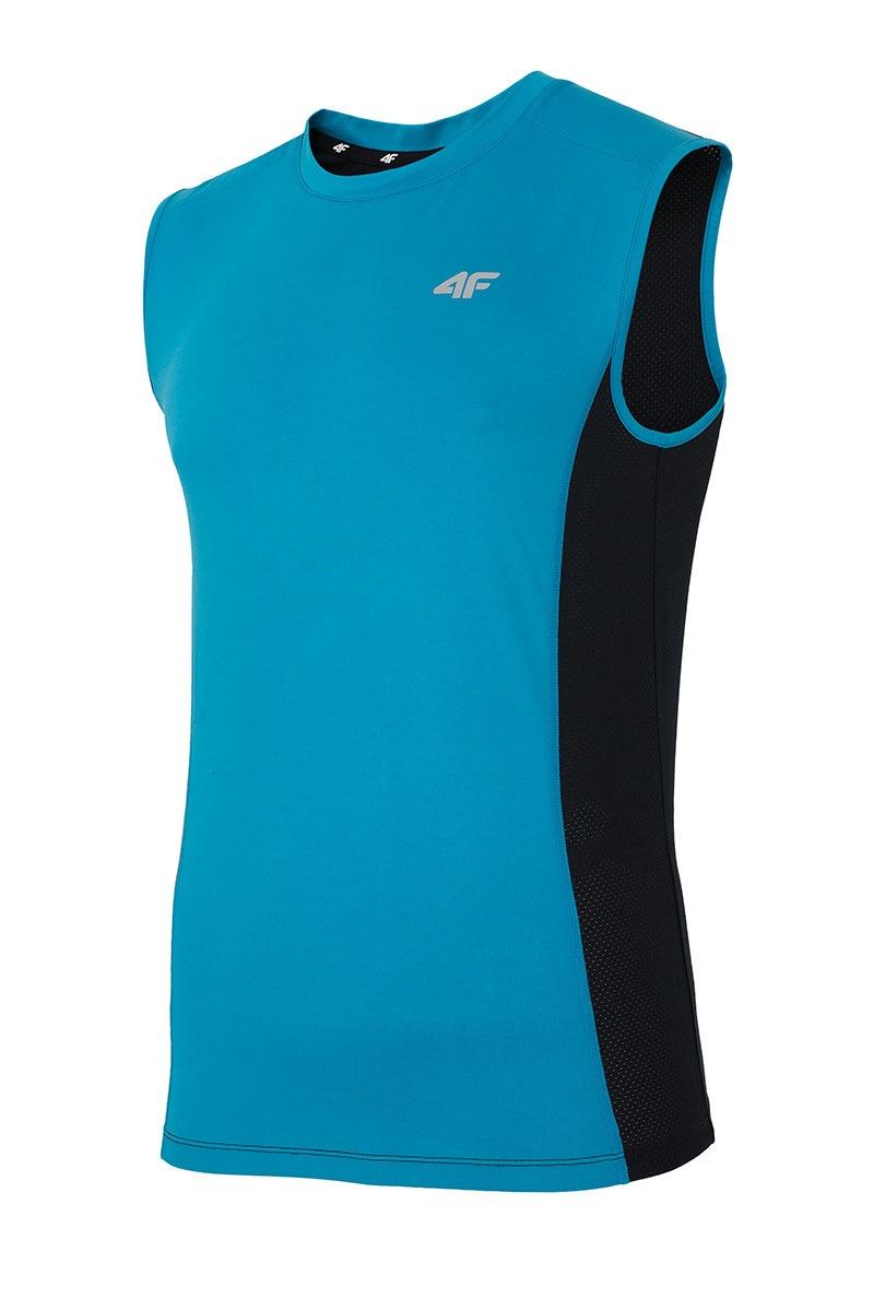 Tricou sport barbatesc 4F Dry Control Blue