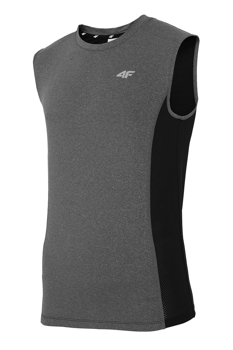 Tricou sport barbatesc 4F Dry Control Grey