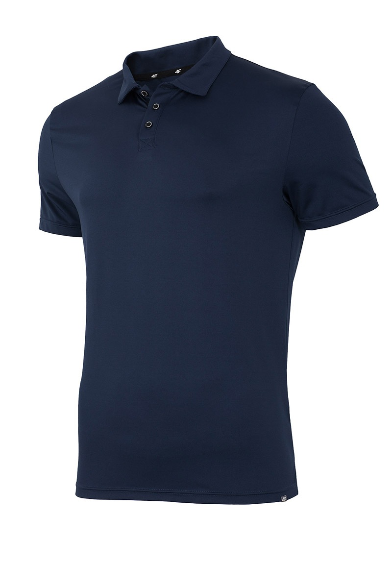Tricou Polo Barbatesc 4f Dry Control Navy